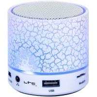 Mini Boxa LTC, iluminata cu Led, Bluetooth, USB/AUX/MIC, alb