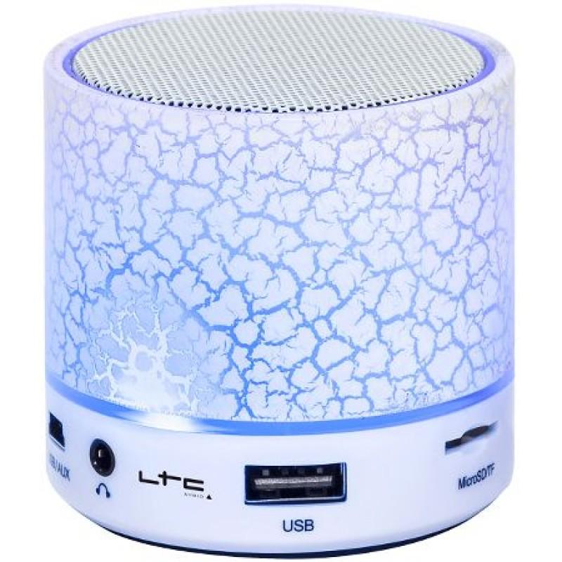 Mini Boxa LTC, iluminata cu Led, Bluetooth, USB/AUX/MIC, alb 2021 shopu.ro