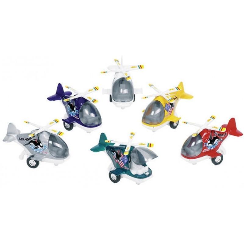 Mini elicopter Goki, 10 cm, 3 ani+, Multicolor 2021 shopu.ro