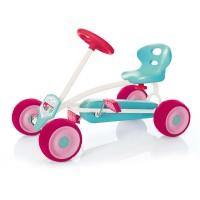 Mini Go Kart Turbo, anvelope 16 cm, scaun reglabil, maxim 30 Kg, 2 - 4 ani, Roz
