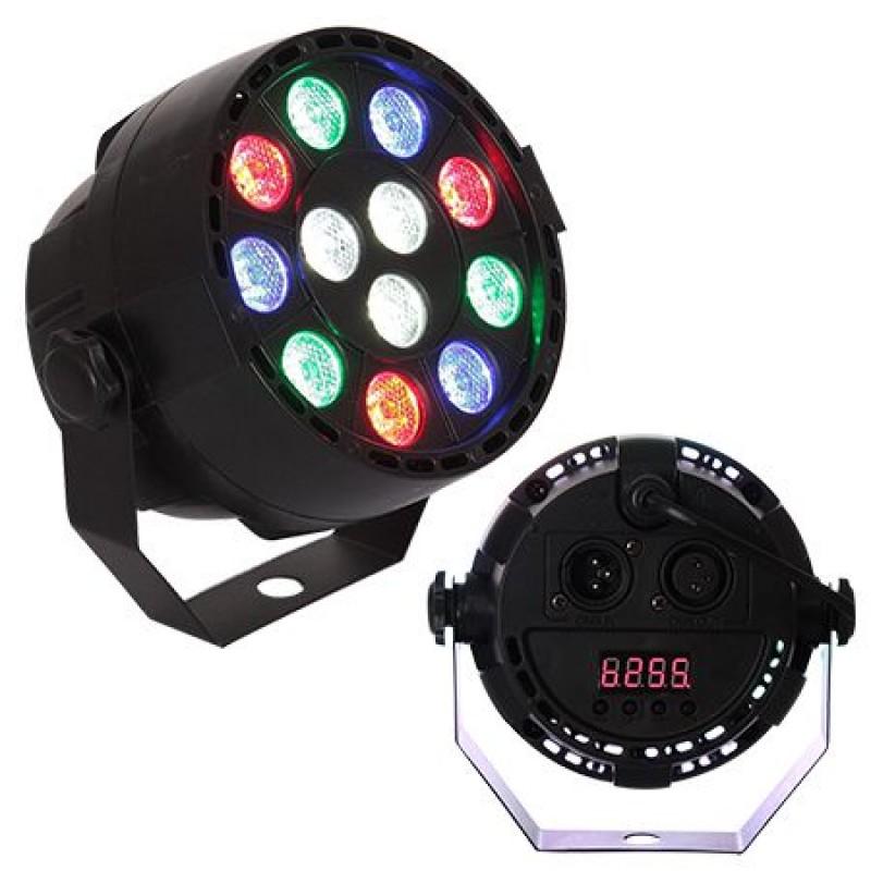 Proiector compact, 12 LED-uri RGB 3 W, 7 canale DMX, amestec de culori 2021 shopu.ro