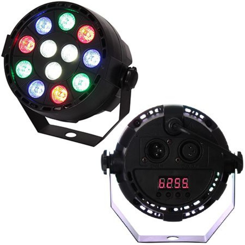 Proiector mini PAR LED RGBX, 12 x 1 W, LED, 7 canale 2021 shopu.ro