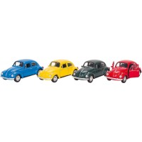 Masinuta Volkswagen Beetle Clasic Goki, 13 cm, scara 1:34, 3 ani+