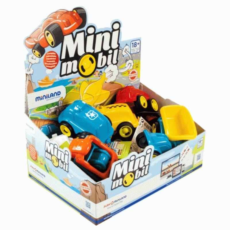 Minimobil Miniland, 12 cm, model taxi 2021 shopu.ro