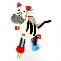 Jucarie tip paturica senzoriala Label Label Friends, model zebra