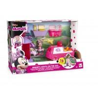 Biroul lui Minnie pe roti, masina cu figurina, 3 ani+