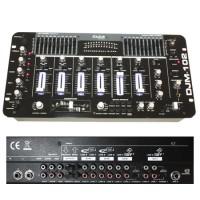 Mixer DJ Ibiza, 19 inch, 6 canale, negru lucios