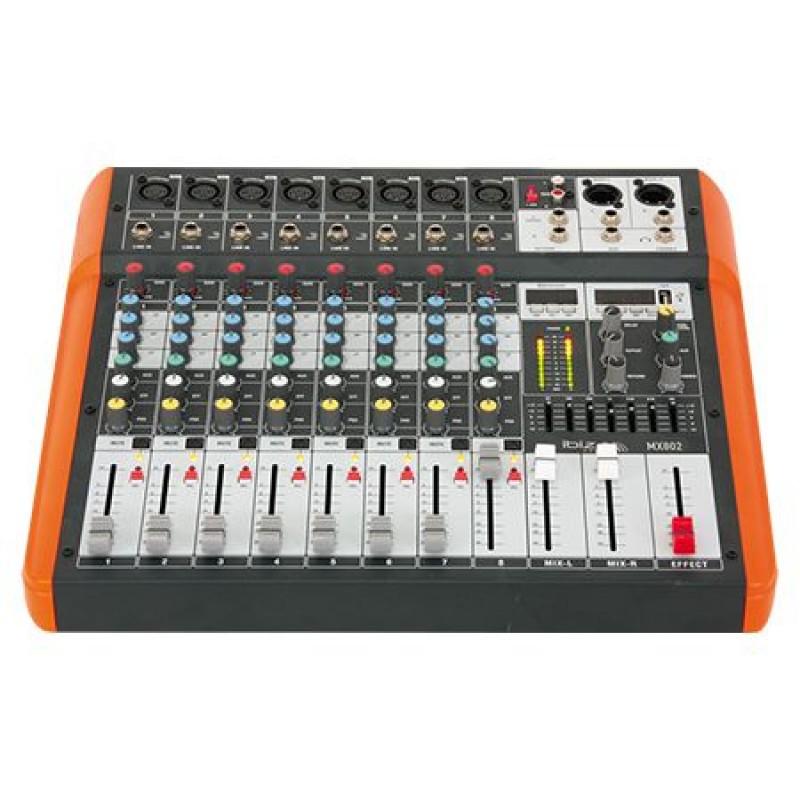 Mixer profesional cu egalizator, 8 canale, USB, Bluetooth, efecte, AUX 2021 shopu.ro