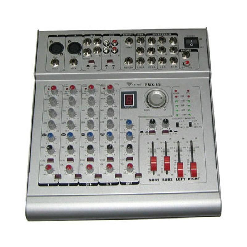 Mixer si amplificator PMX 6S, 2 x 210 W, 6 canale 2021 shopu.ro