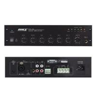 Mixer cu amplificator de linie, protectie multipla, prioritate pe microfon, 40 W