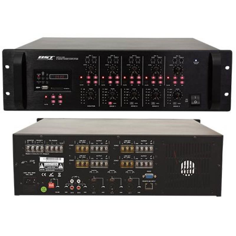 Mixer cu amplificare, 4 x 120 W, 5 canale, 2 x intrari AUX, 4 Ohm 2021 shopu.ro