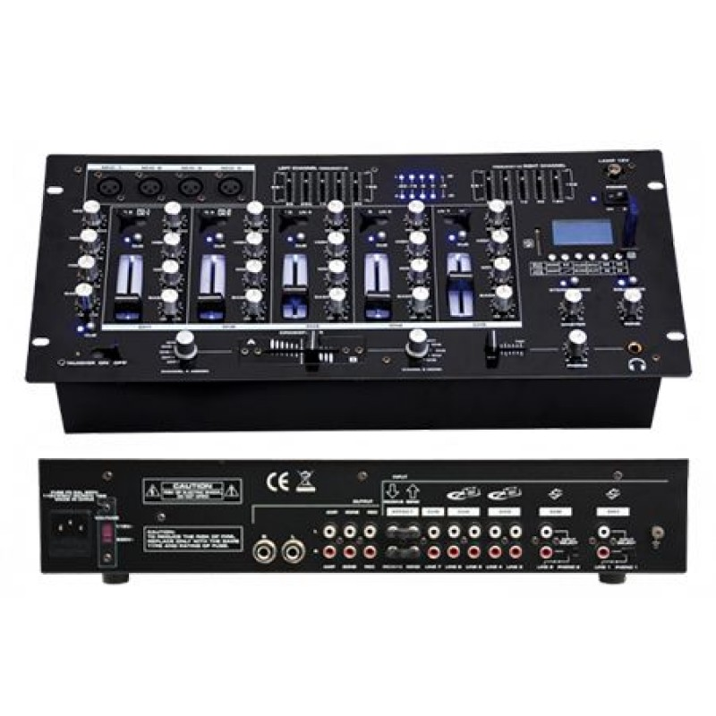 Mixer profesional, USB/SD, Bluetooth, 6 canale, 14 intrari, Mp3 2021 shopu.ro