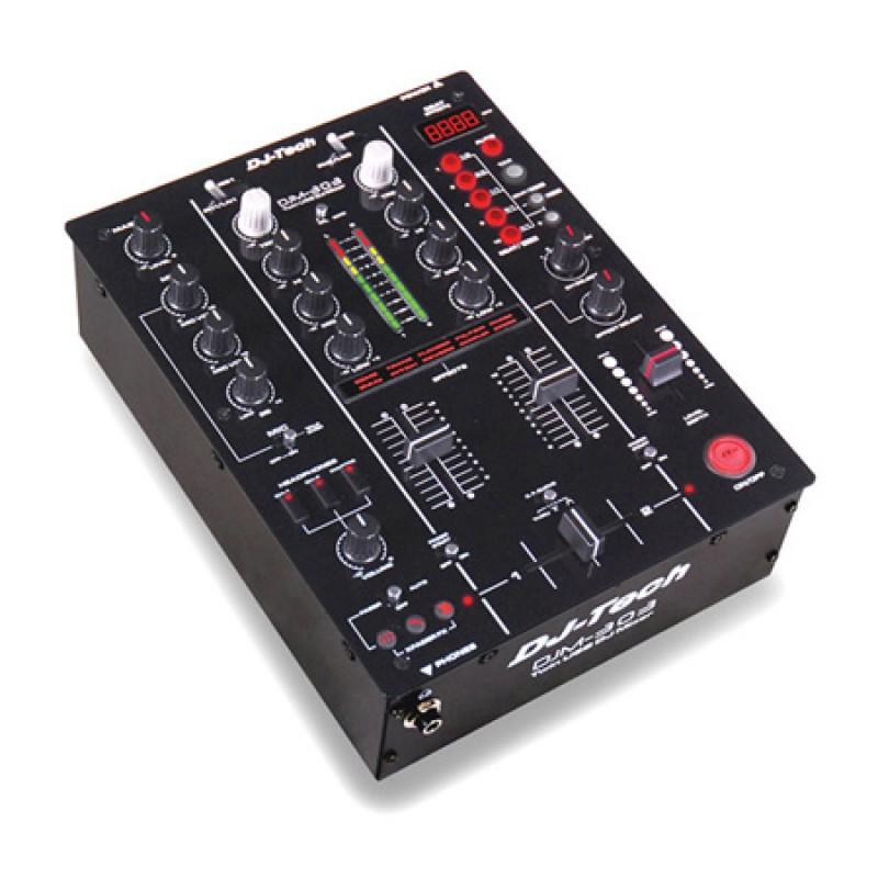 Mixer DJ Ibiza, 2 canale dual USB, EQ pe 3 benzi, iesire casti 2021 shopu.ro