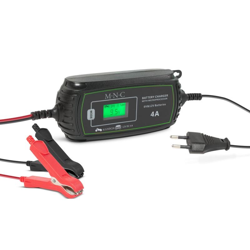 Incarcator automat pentru baterii auto MNC, 70 W, 240 V, 2/4 A, afisaj LCD 2021 shopu.ro