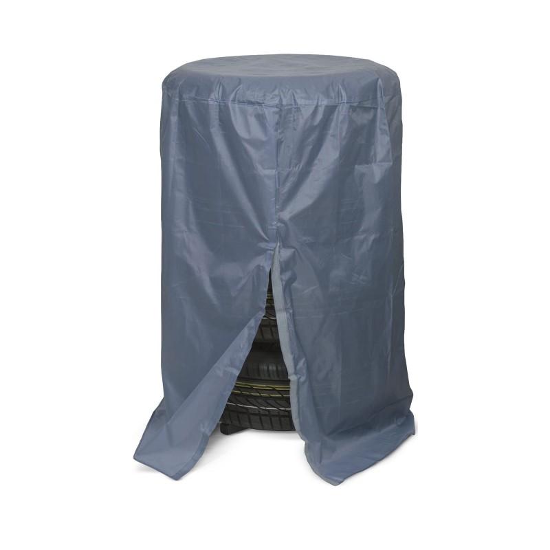 Prelata de protectie pentru set de roti auto MNC, 65 x 117 cm, poliester, fixare cu scai, Gri 2021 shopu.ro
