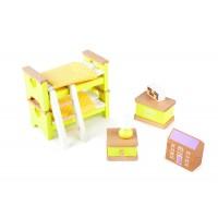 Mobilier pentru casuta papusi Dormitor Tidlo, lemn finisat in detaliu, 8 piese, 3 ani+