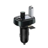 Modulator FM si incarcator T-Type Baseus, Bluetooth 4.2, 2 x USB