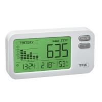 Monitor pentru calitatea aerului Aircontrol Coach CO2 TFA, LED, microUSB, ceas quartz