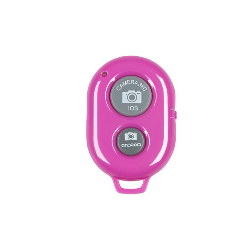 Suport telescopic pentru selfie M-life, maxim 97 cm, telecomanda, roz