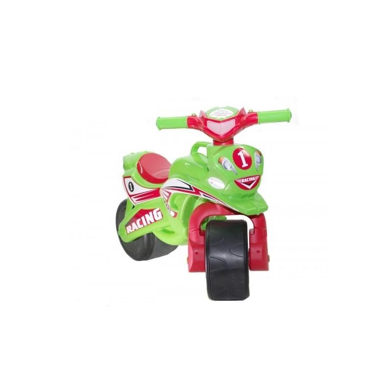 Motocicleta fara pedale Racing MyKids, 67 x 51 cm, plastic, maxim 25 kg, 36 luni+, Verde/Rosu 2021 shopu.ro