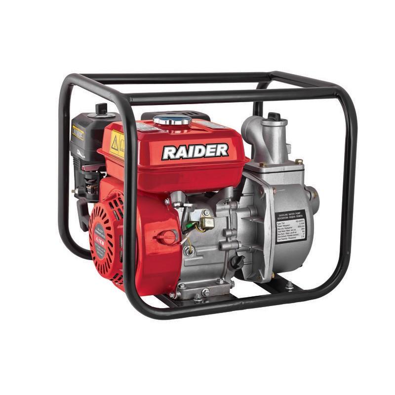 Motopompa pe benzina Raider, motor 4 timpi, 4.1 kW, 196 cc, 35 m, 33000 l/h, rezervor 3800 ml