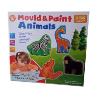 Set creativ de modelat si pictat Mould & Paint Animals