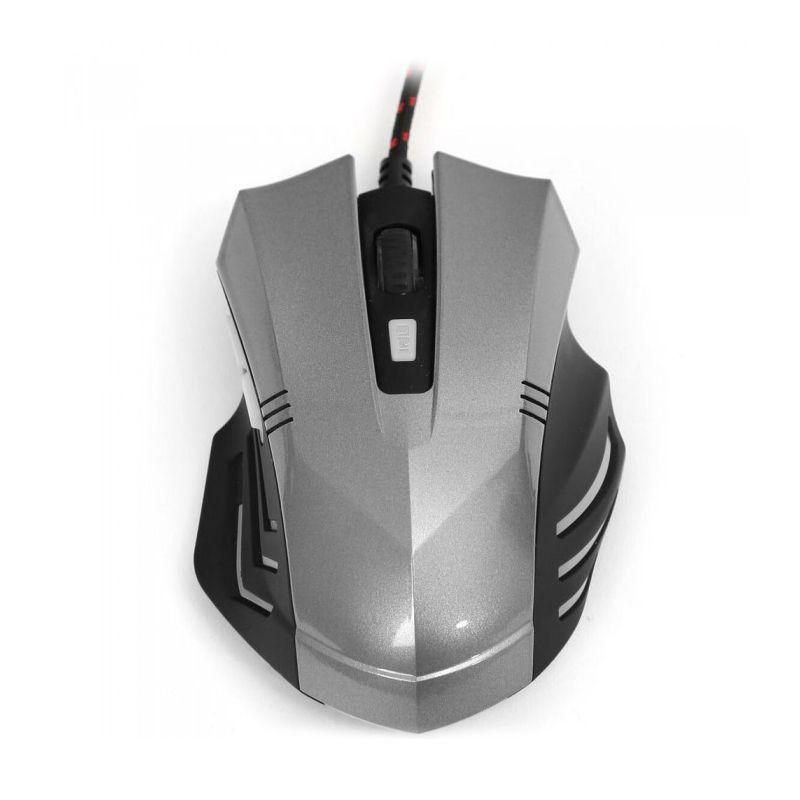 Mouse gaming Omega, 1200-3200 dpi, 6 butoane, senzor optic, Gri/Negru 2021 shopu.ro