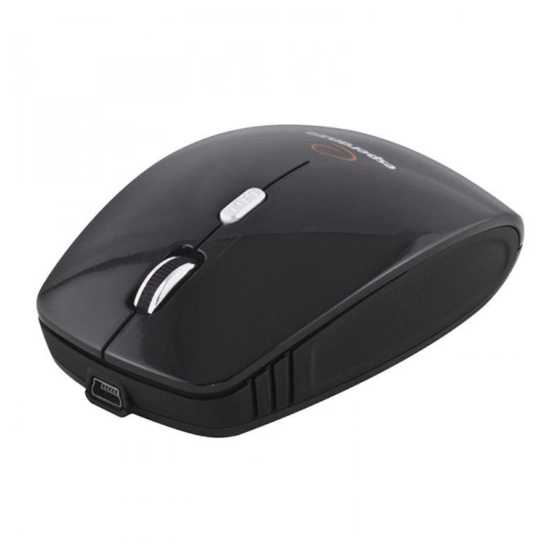 Mouse wireless 4D Charger Esperanza, 1600 dpi, 4 butoane, Negru 2021 shopu.ro