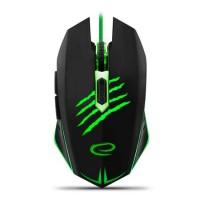 Mouse gaming Claw Esperanza, USB, Negru/Verde