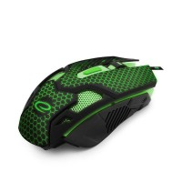 Mouse optic USB gaming Cobra, 2400 dpi, 6 butoane, iluminare LED