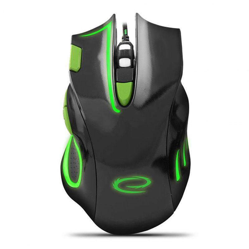 Mouse cu fir pentru gaming Hawk Esperanza, USB, 7 butoane, 2400 DPI, senzor optic 2021 shopu.ro