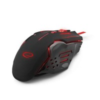 Mouse optic USB gaming, 2400 dpi, 6 butoane, iluminare LED, Rosu
