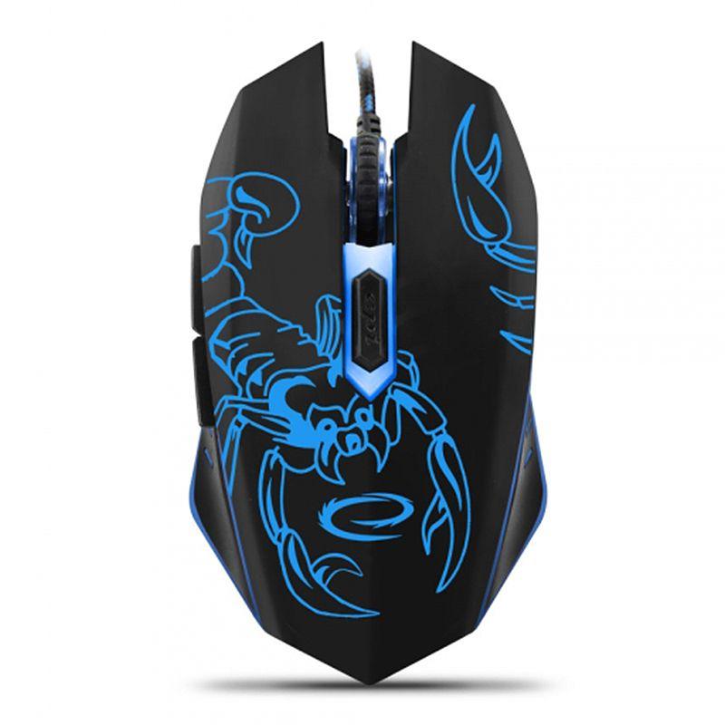 Mouse optic Gaming Scorpio Esperanza, USB, 6 butoane, lumina albastra 2021 shopu.ro