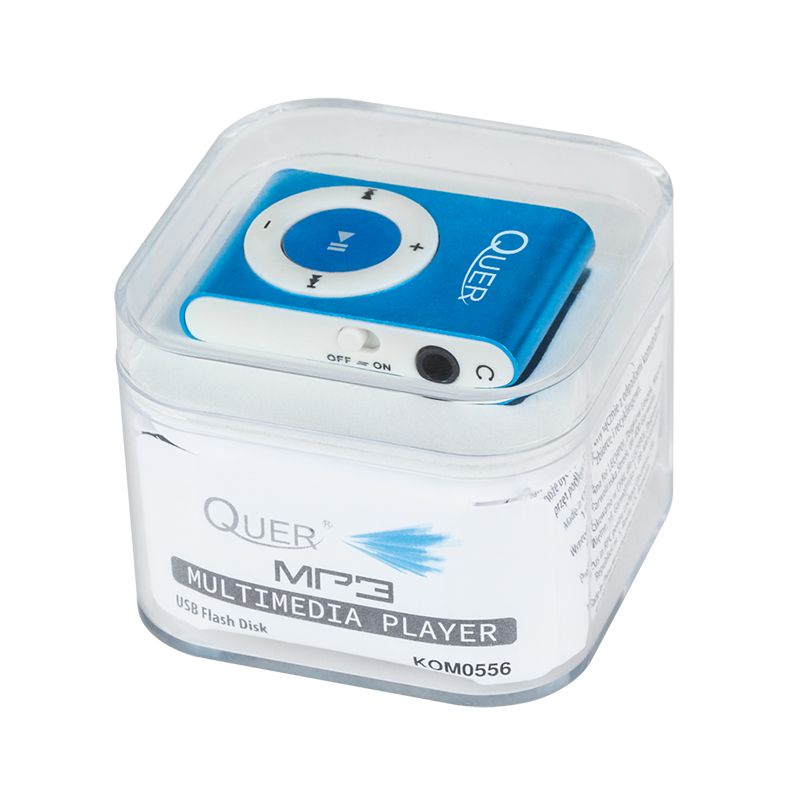 Mini MP3 Player Quer, maxim 32 Gb, albastru