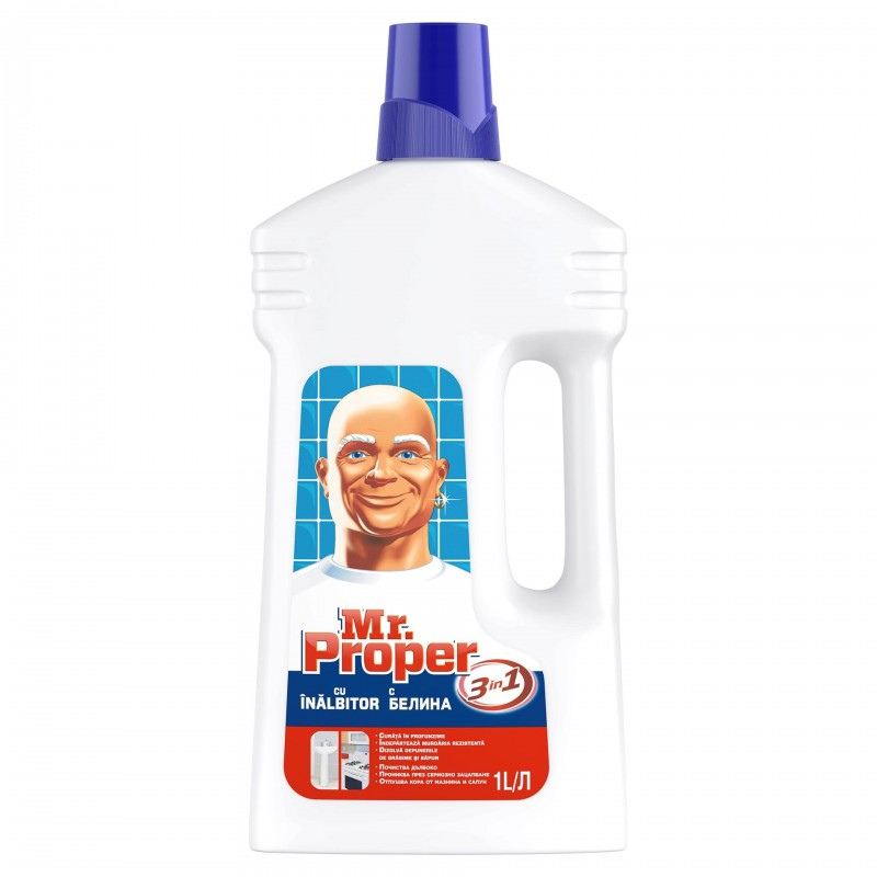 Dezinfectant suprafete Mr. Proper cu inalbitor, 1 l 2021 shopu.ro