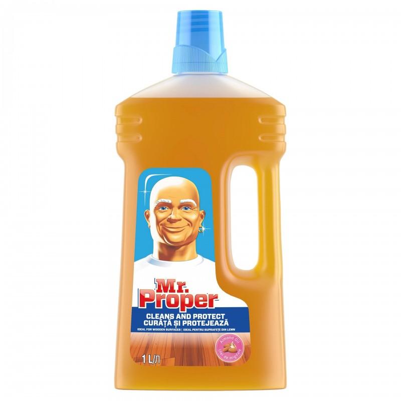Detergent curarare pardoseala Mr. Proper pentru lemn, 1 l shopu.ro