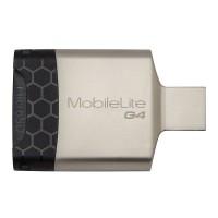 Multi Card Reader MobilElite Kingston, USB 3.0, Alb/Negru