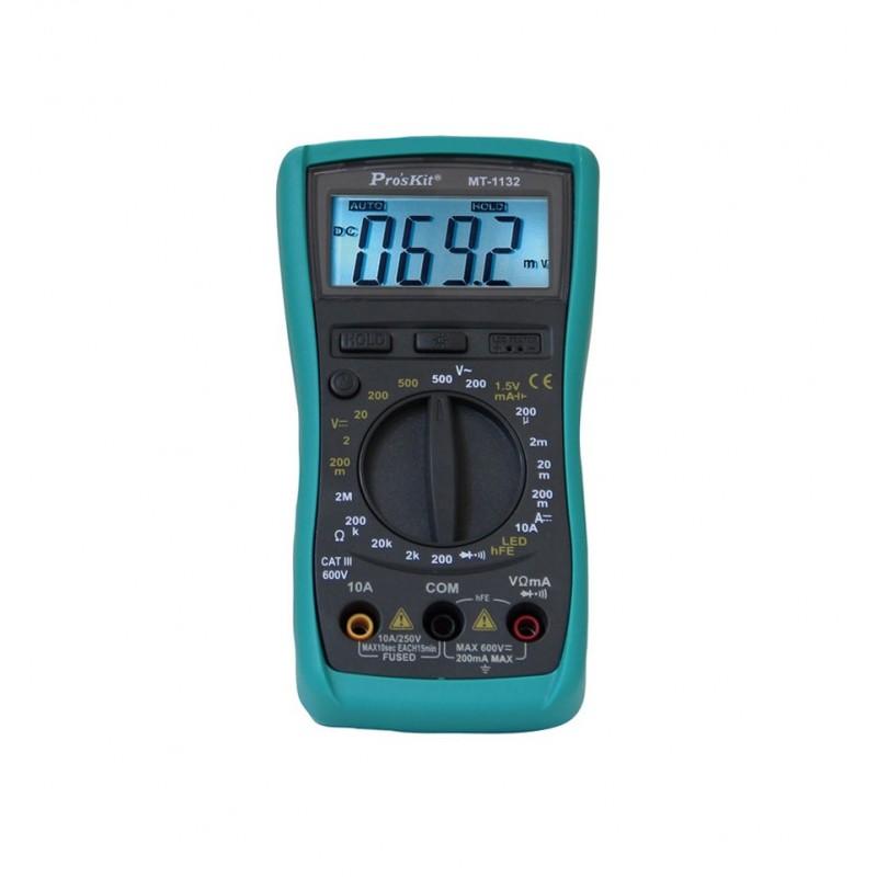 Multimetru digital ProsKit, 6 functii, 10A/250V, memorare date 2021 shopu.ro