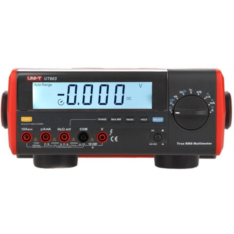 Multimetru digital de laborator UT803 UNI-T, afisaj LCD 2021 shopu.ro