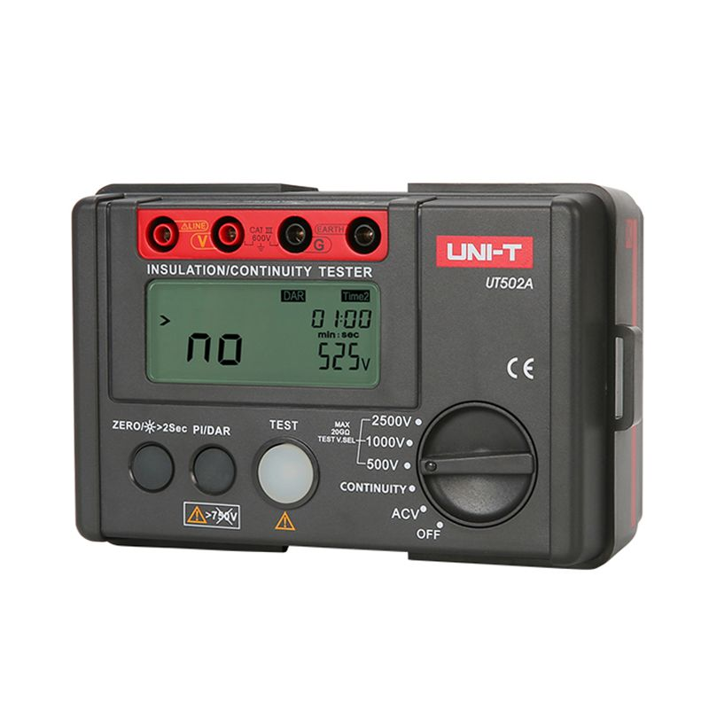 Multimetru rezistenta izolatie UT502A UNI-T, buzzer, afisaj auxiliar shopu.ro