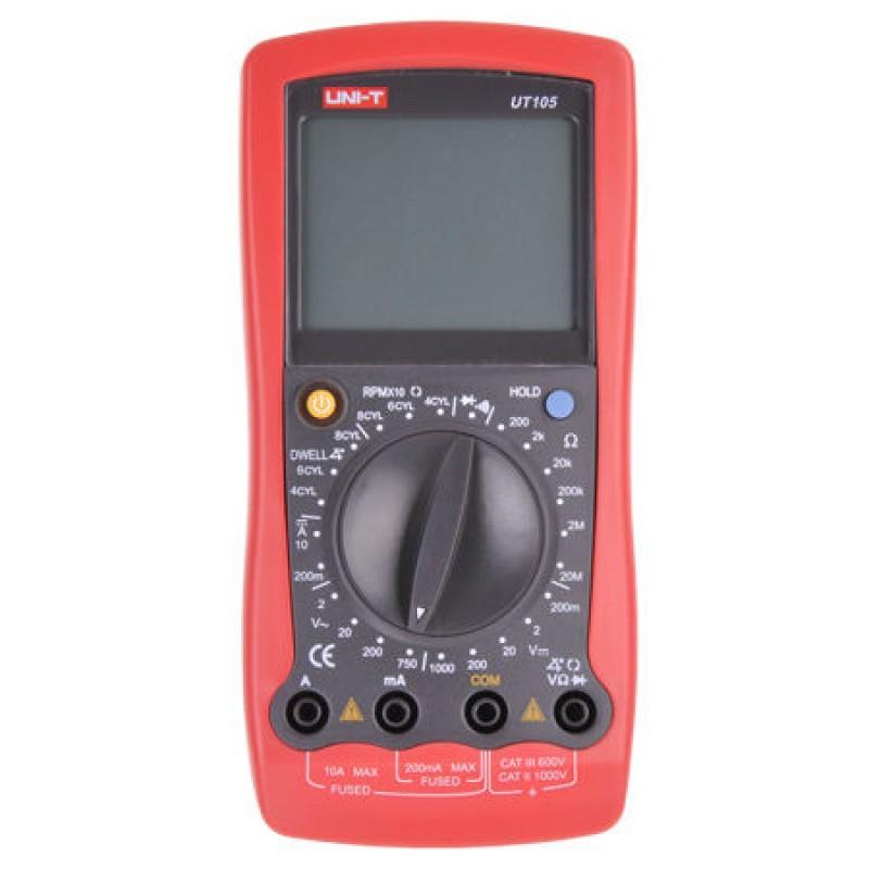 Multimetru digital UNI-T UT105, testare diode, masurarea unghiului DWELL 2021 shopu.ro