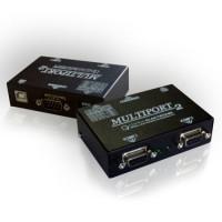 Multiport pentru case fiscale RS-232, 3 conectori, mod lucru Slave, alimentare USB/AC adaptor