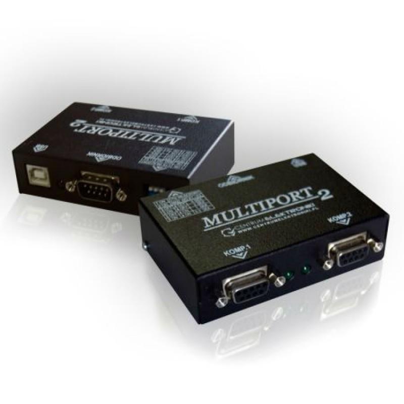 Multiport pentru case fiscale RS-232, 3 conectori, mod lucru Slave, alimentare USB/AC adaptor 2021 shopu.ro