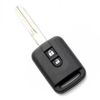 Carcasa cheie Nissan Carguard, 2 butoane, model dreptunghiular, Negru