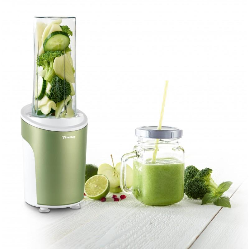 Nutriblender juicer Trisa Power Smoothie, cutit 4 lame, 21000 rpm, verde 2021 shopu.ro