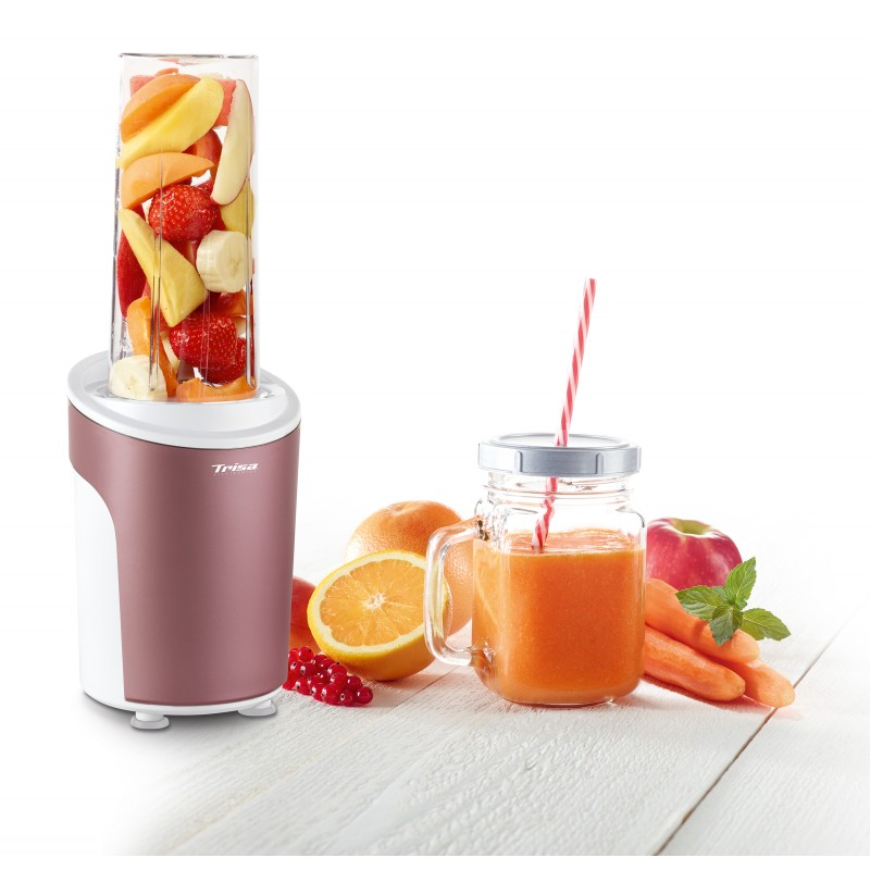 Nutriblender juicer Trisa Power Smoothie, cutit 4 lame, 21000 rpm, rosu
