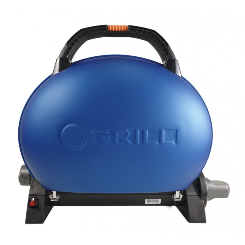 Gratar portabil cu capac O-GRILL 500, 2.7 kW, aprindere automata, 211 g/h, temperatura reglabila, Albastru shopu.ro