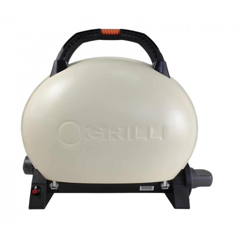 Gratar portabil cu capac O-GRILL 500, 2.7 kW, aprindere automata, 211 g/h, temperatura reglabila, Crem shopu.ro