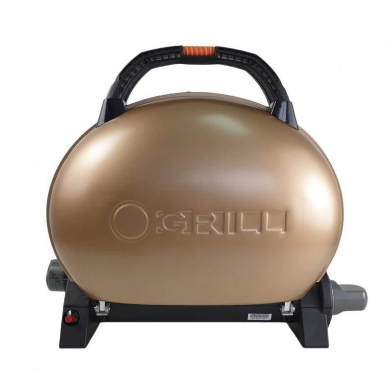 Gratar portabil cu capac O-GRILL 500, 2.7 kW, aprindere automata, 211 g/h, temperatura reglabila, Gold shopu.ro