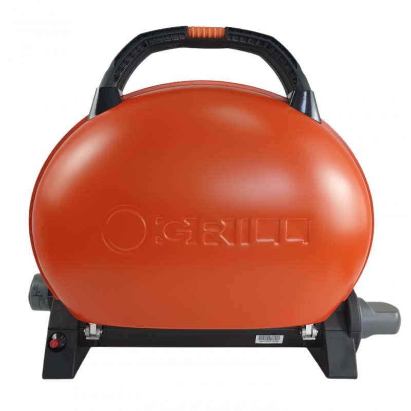 Gratar portabil cu capac O-GRILL 500, 2.7 kW, aprindere automata, 211 g/h, temperatura reglabila, Portocaliu shopu.ro